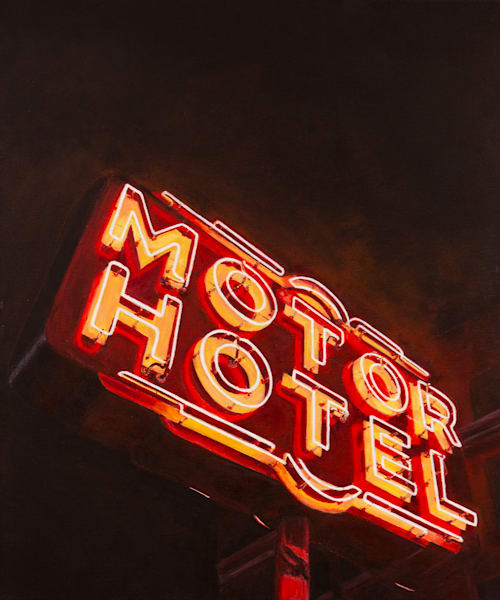 Motor Hotel:  Original Painting by Artist Shane O'Donnell