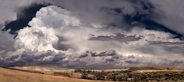 Panoramas/Wide View - color | Ranch Land Thunderhead - color. This wide-view format, fine art color image by David Zlotky