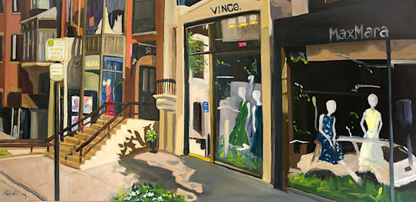 Newbury Street Early Morning by Paul William | Fine Art for Sale