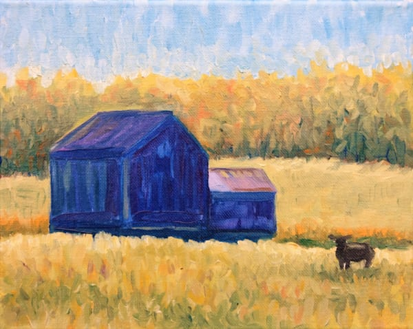The blue barn in Kempton fine art print