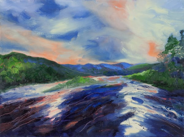Evening on the river-Prints