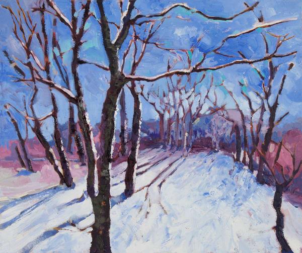A Winter Stroll-Prints
