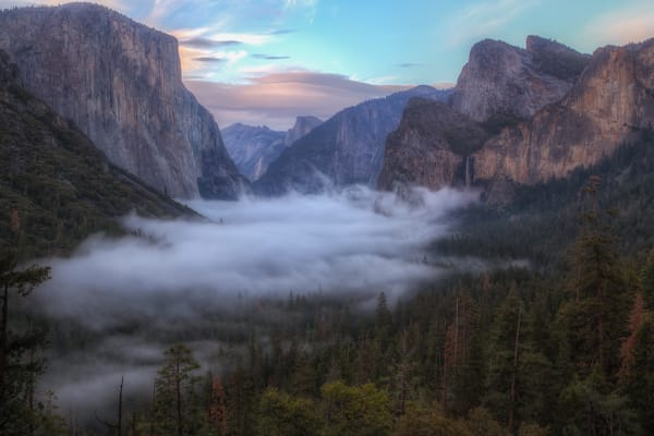 Tunnel View Cotton Candy   Yosemite National Park Photography Art | Will Nourse Photography