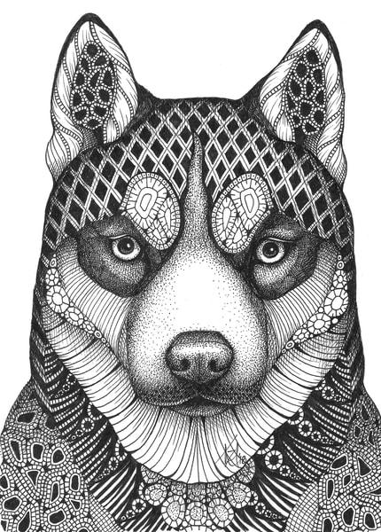 "Husky Art | Kristin Moger ""Seriously Fun Art"""