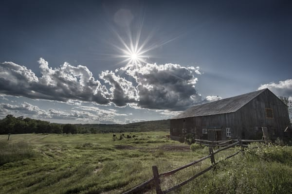 Summer Sun Rays on the Barn