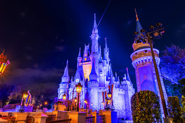 Nighttime Cinderella's Castle - Disney World Photos