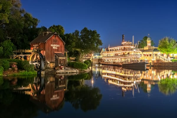Harpers Mill Reflection - Disney World Images | William Drew