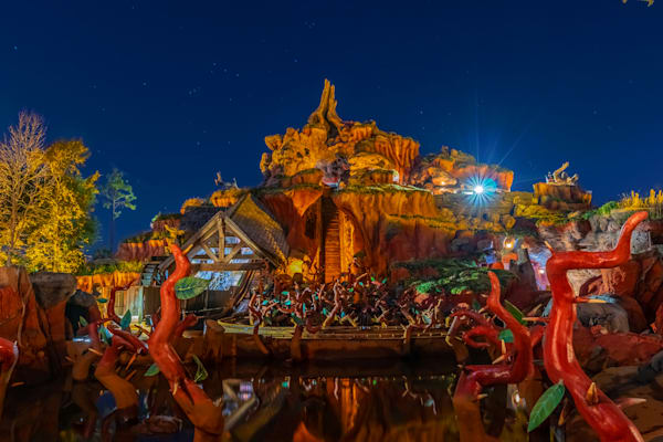 Splash Mountain Reflections - Magic Kingdom Art | William Drew Photography