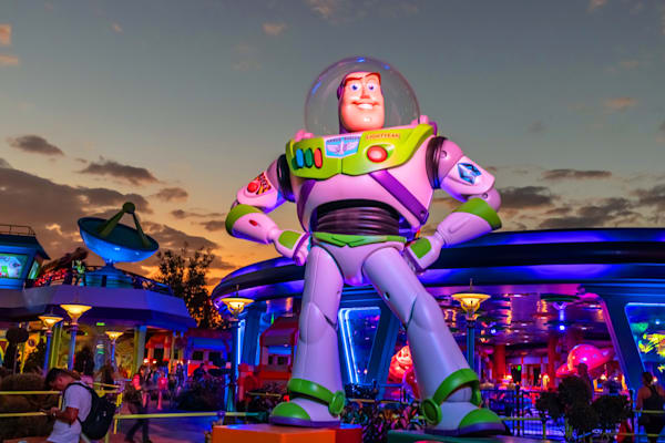 Buzz Lightyear Sunset - Toy Story Land Photos | William Drew Photography