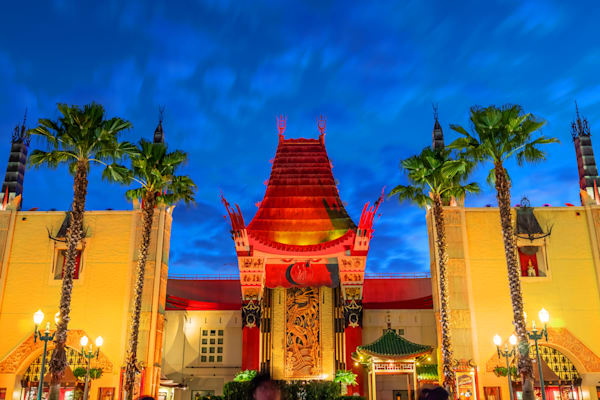 Chinese Theater Dusk - Photos of Hollywood Studios | William Drew Photography