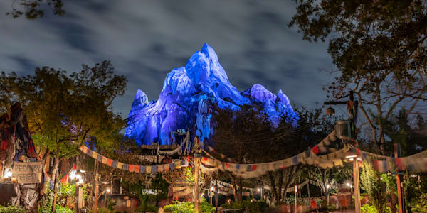 Expedition Everest in Blue - Animal Kingdom Pictures | William Drew Photography