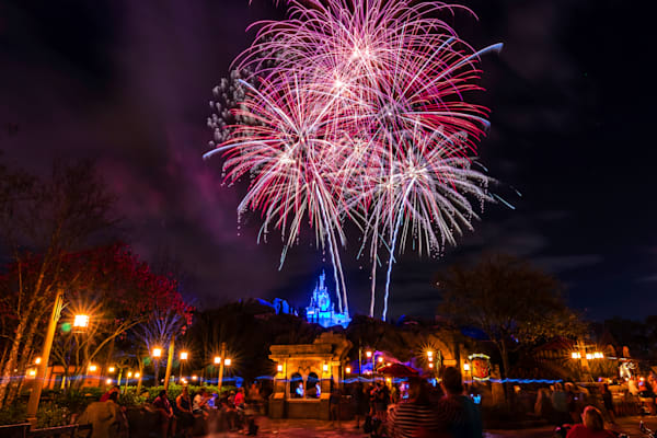 Beast's Castle Fireworks 1 - Disney Fireworks Art | William Drew Photography