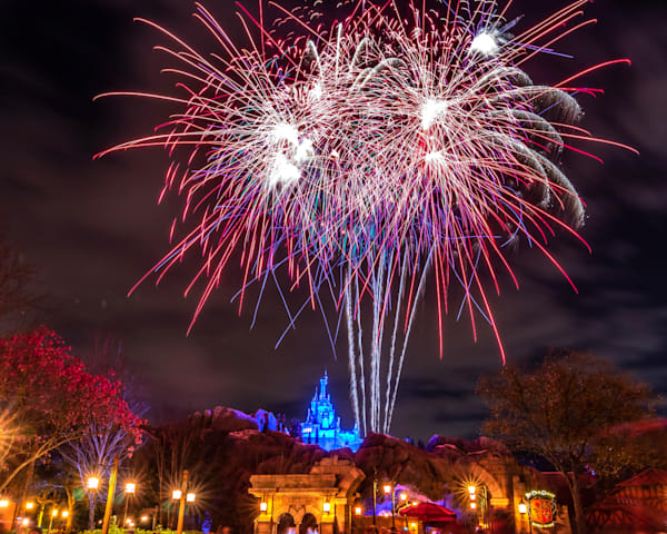 Be Our Guest Fireworks 1 Photography Art | William Drew Photography