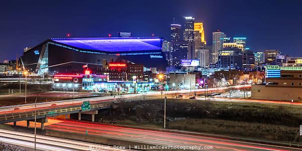 The City and Stadium - Minneapolis Wall Murals