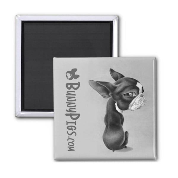 Boston Terrier refrigerator magnet