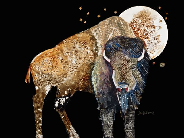 Oh, Give Me a Home Buffalo Watercolor
