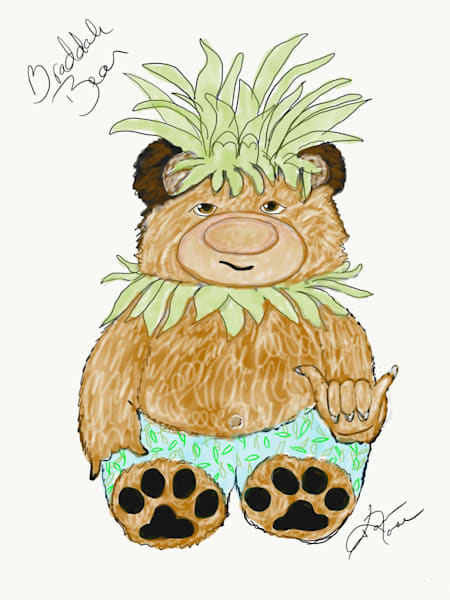 Braddah Bear Sketch by Bo Bergemann