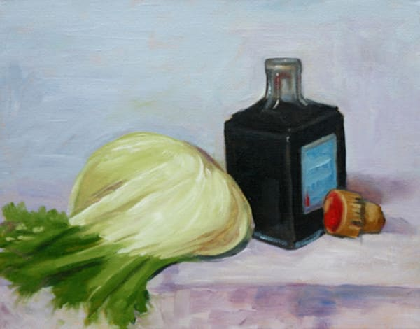 Study of Balsamic Vinegar and a Leek fine art print