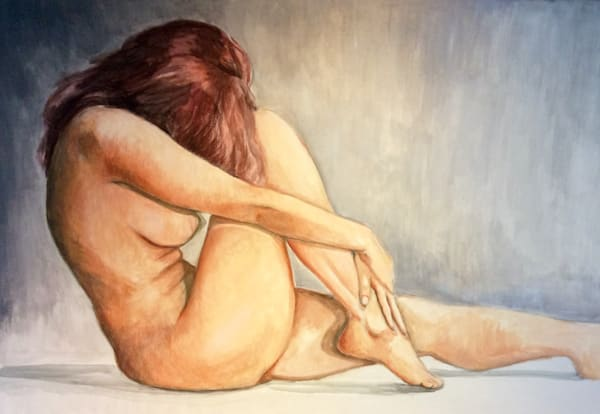 Study of Redhaired Female Nude Fine Art Open Edition Print