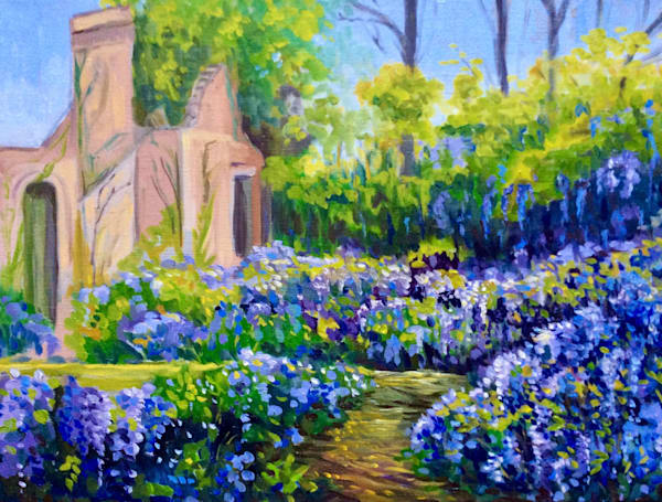 Wisteria in the Ruins Fine Art Print by Hilary J. England