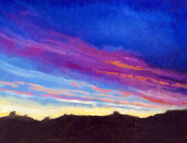 Sunset Art by American Artist Hilary J. England