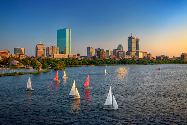 Boston Skyline Summer 2018 by Rick Berk