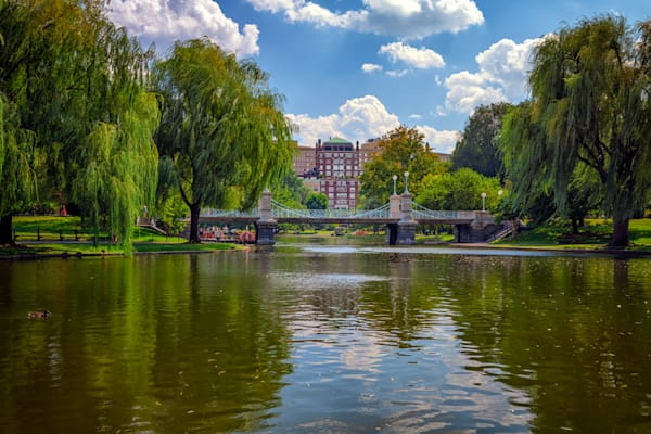 Boston Public Garden Bridge by Rick Berk