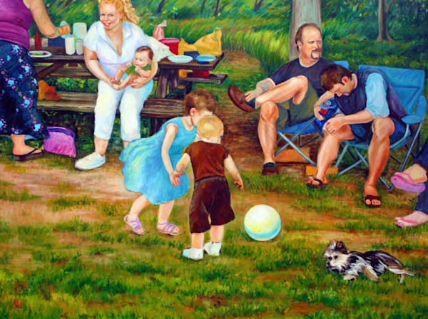 Summer Picnic in Pennsylvania Fine Art Open Edition Print