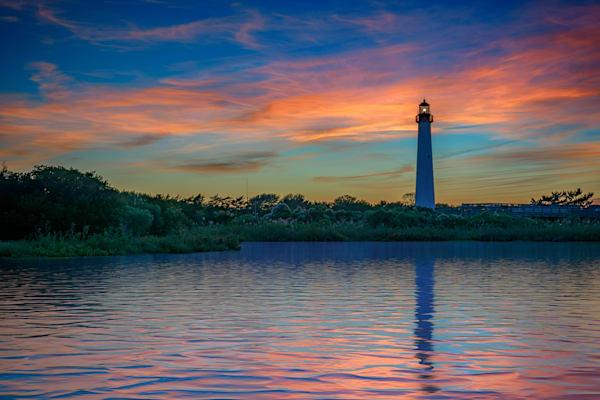 Dusk at Cape May Lighthouse by Rick Berk