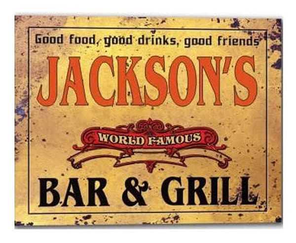 Customizable World Famous Bar & Grill Poster