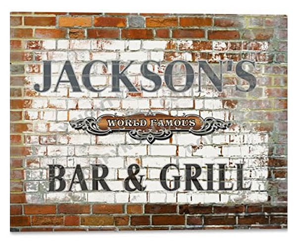 "Customizable World Famous ""Brick Wall"" Bar & Grill Poster"