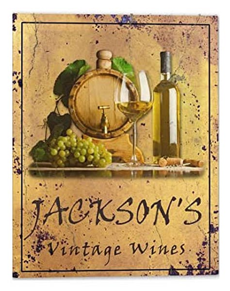 Customizable Vintage Wines Poster