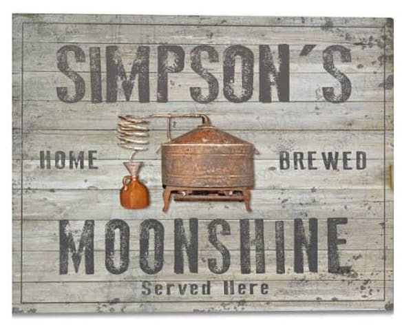 Customizable Moonshine Poster