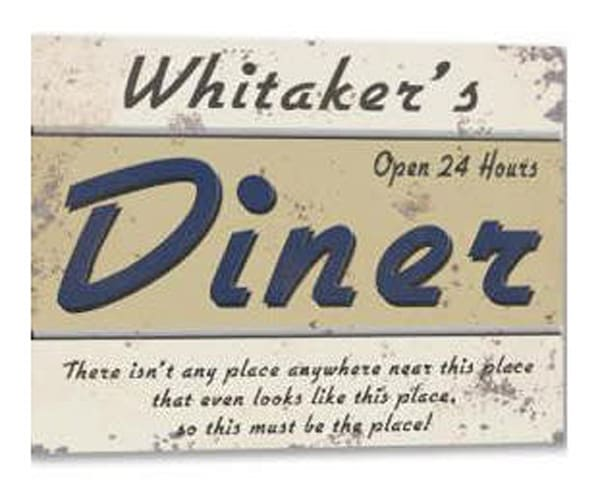 Customizable 24 Hour Diner Poster