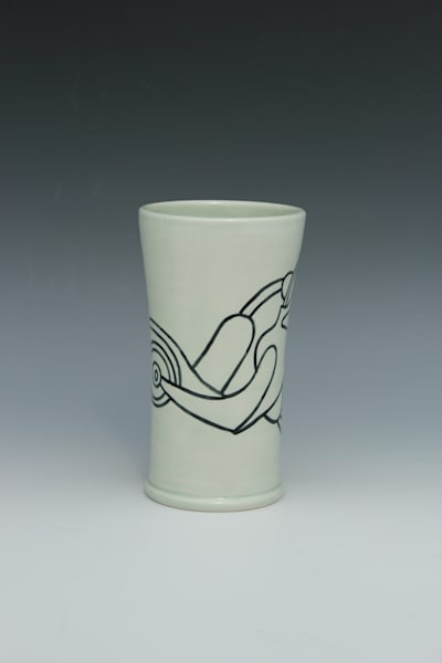 Galactic Gingko Gull, Suttle Blue Tumbler