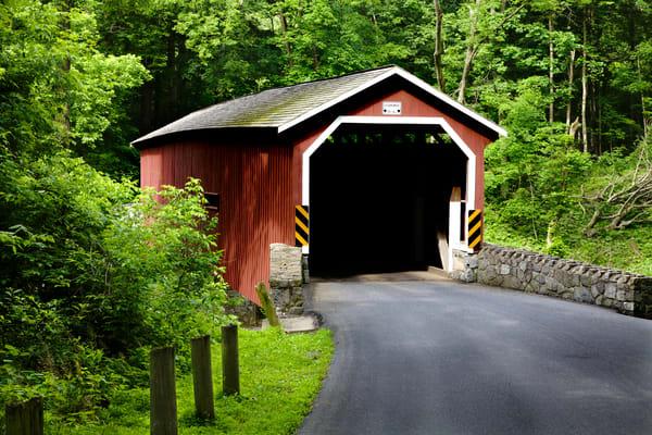 Lancaster Red Covered Bridge Summer