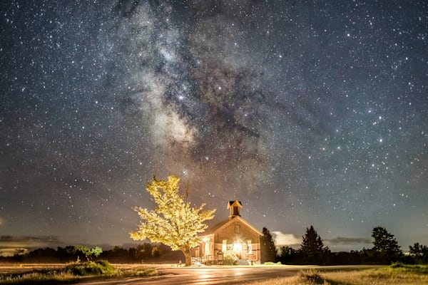 Milky Way Over The Olde Schoolhouse Photography Art | Vincent Brady Photography