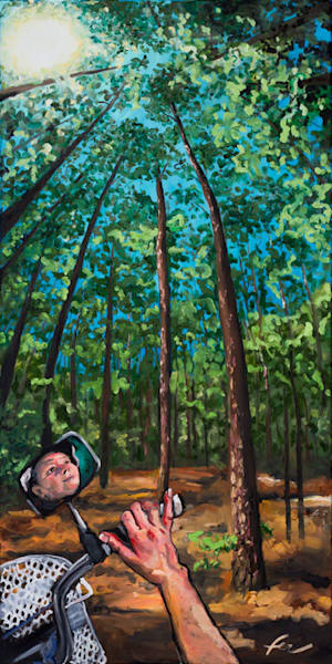 Self-Portrait at Laurel Hill Park | oil on canvas