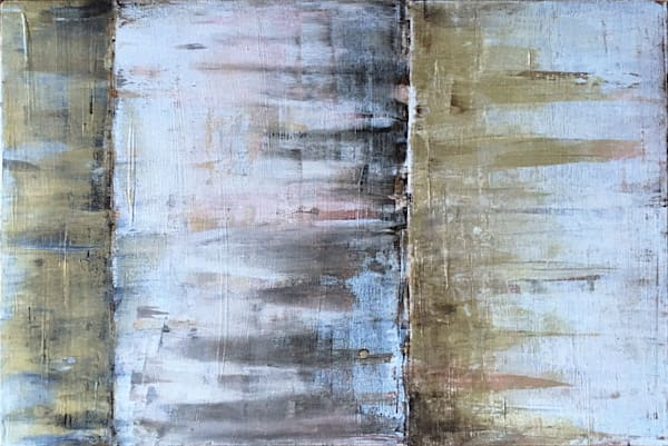 Gold Rush acrylic abstract painting