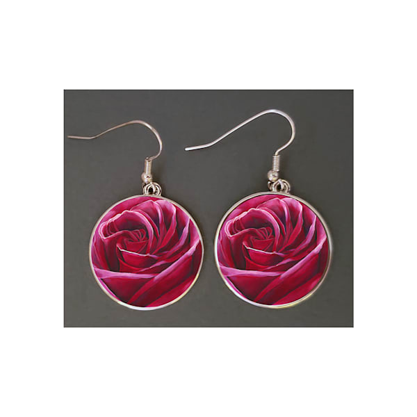 "Unique jewelry created with Mare's Art artwork ""Intimate"" printed right on the earrings, perfect for you or as an artsy gift!"