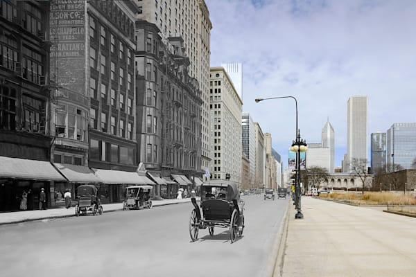 Michigan Avenue North From Van Buren