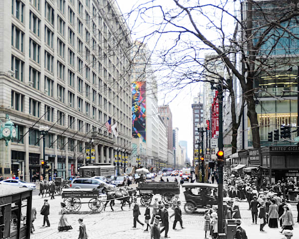 State Street And Marshall Fields Art | Mark Hersch Photography