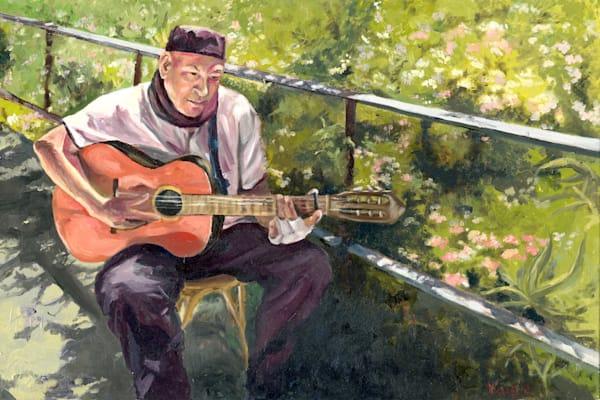 Guitarist   Park Guell, Barcelona Art   OPV Art, LLC