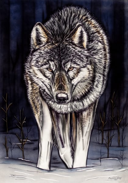 wolf, metal art, wildlife, airbrush, grinding