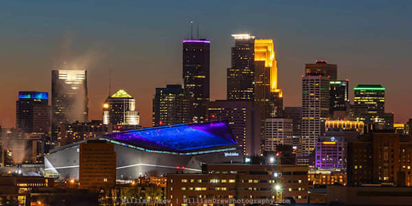 Super Bowl Sunset - Minneapolis Wall Murals | William Drew Photography