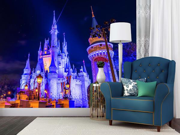 Nighttime Cinderella's Castle - Disney Wall Mural