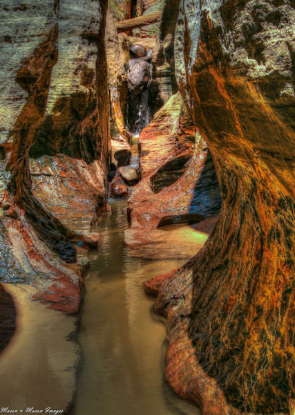 Canyon Walls of The Subway, Zion National Park-shop MasonandMasonImages.com