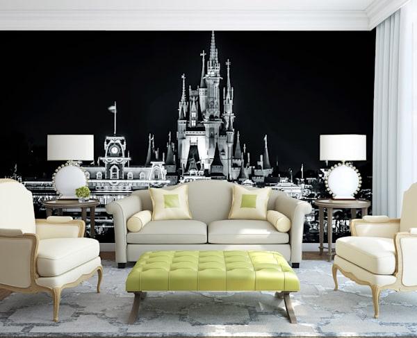 Magic Kingdom Black and White - Disney Wall Murals