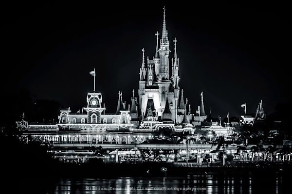 Magic Kingdom Black and White - Disney Wall Murals