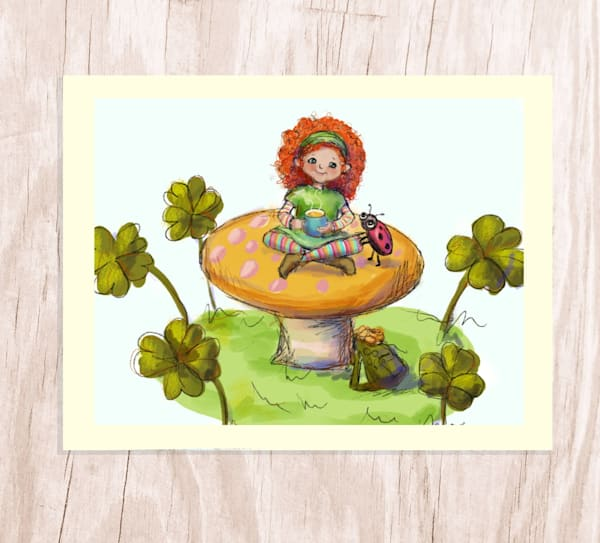 Lucy Leprechaun | Greeting Card